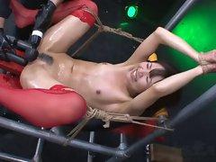 Sensual japanese BDSM Megumi