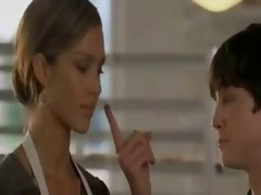 Jerk off in Jessica Alba's face