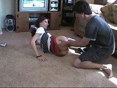 Sensual Schoolgirl Mommy Accepts It Up The Backdoor !