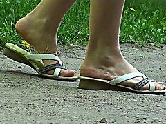 Walking in flipflops 1