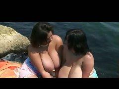 lesbians, beach