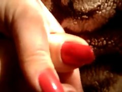 Luscious red fingernails and toenails