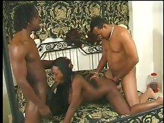 fbusty lustful ebony Sierra is DPd by two BBCs