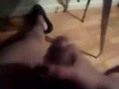 transvestite friend jerking her meat!