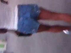 Phat Ebony Azz in Wee Shorts 2